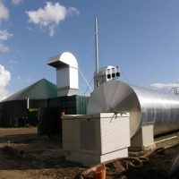 alt CHP biogas system from manure fermenting plant