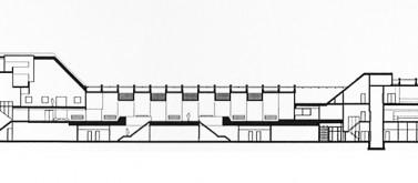 Cross section of the Minnaert building