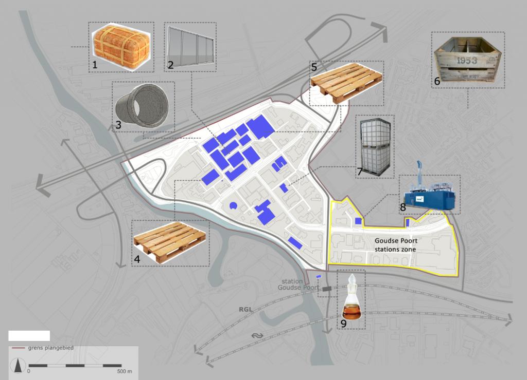 Material harvest map Goudse Poort