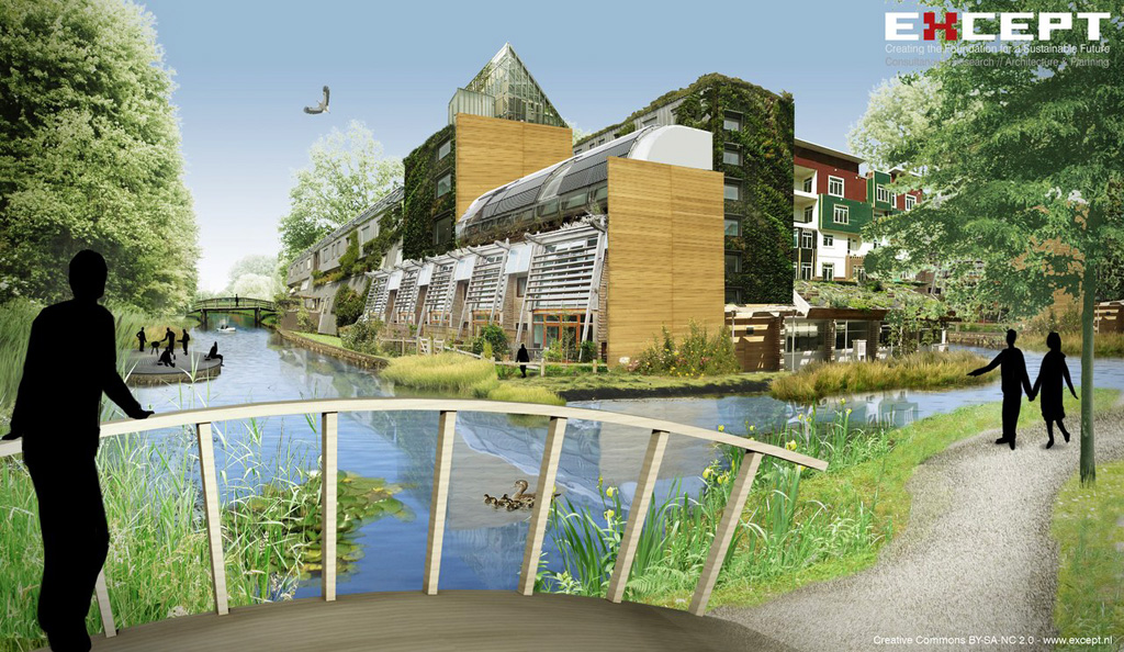 Vision illustration water houses