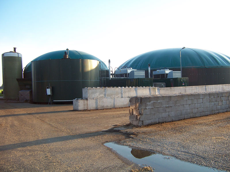 Anaerobic digester onsite