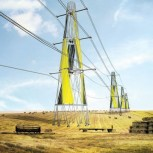 alt Electrical wind towers, visualization.